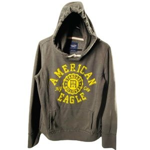 American Eagle Hoodie size Large yellow gray